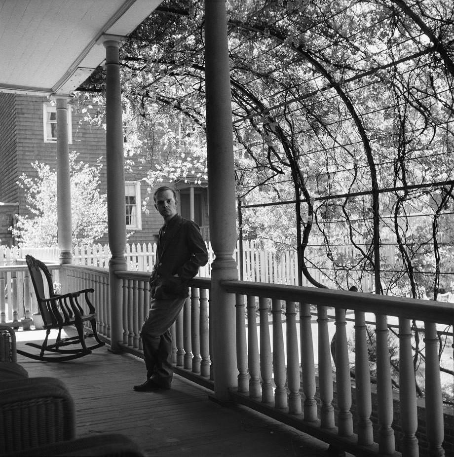 Truman Capote in Brooklyn Heights in 1958